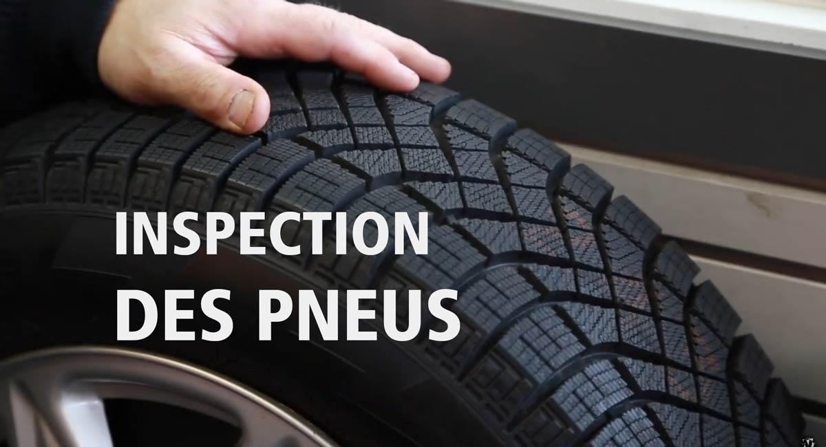 Inspection des pneus
