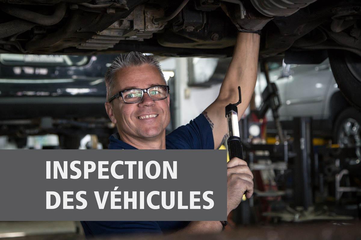 L'inspection des véhicules